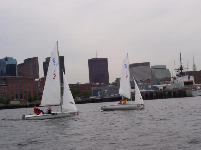 Downwind in Boston Harbor